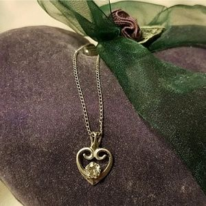 Sterling CZ Heart Necklace